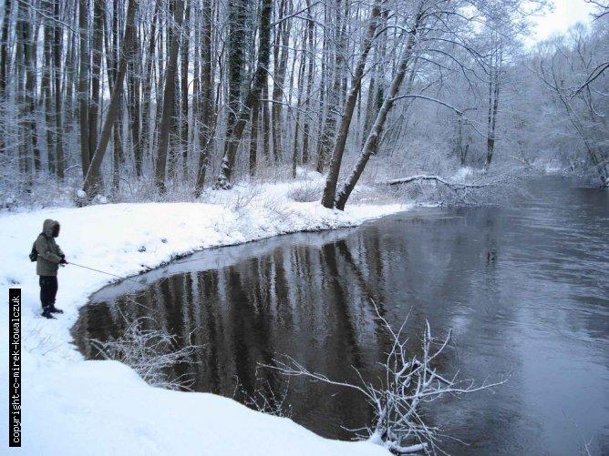 Ina w zimowej scenerii